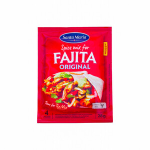 Santa Maria Spice Mix For Fajita Original Medium 28g