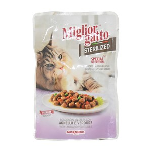 Miglior Gatto Cat Food With Lamb & Vegetables  Sterilized 85g