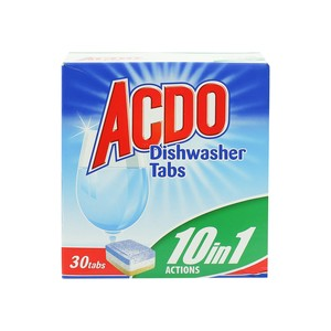 Acdo 10 In 1 Actions Dishwasher Tabs 30pcs