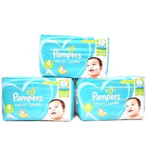 Pampers Active Baby Dry Diapers Size 4, 9-14kg 3 x 44pcs