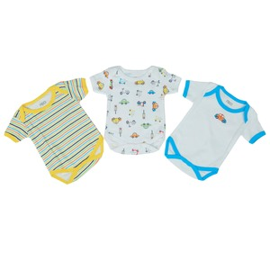 Reo Newborn Boys Short sleeve Bodysuit 3pc Set B7NBB14 0-18M