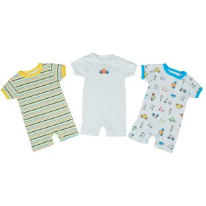 Reo Newborn Boys Short sleeve Rompers 3pc Set B7NBB15 0-18M