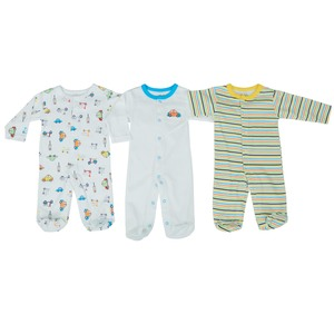 Reo Newborn Boys 3/4 sleeve Sleepsuit 3pc Set B7NBB16 0-18M