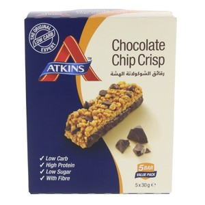 Atkins Chocolate Chip Crisp 5 X 30g