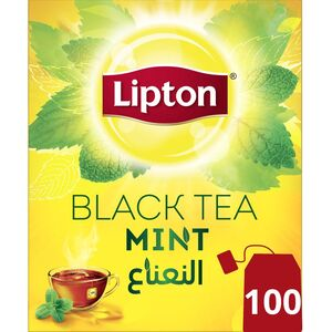 Lipton Flavoured Black Tea Mint 100 Teabags