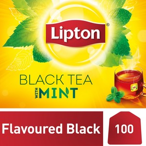 Lipton Yellow Label Black Tea with Mint 100 Teabags