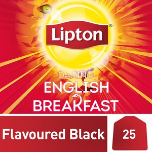 Lipton Flavoured Black Tea Bags English Breakfast 25s