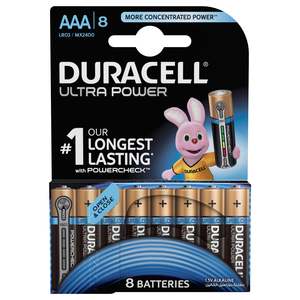 Duracell Ultra Power Type AAA Alkaline Batteries 8pcs