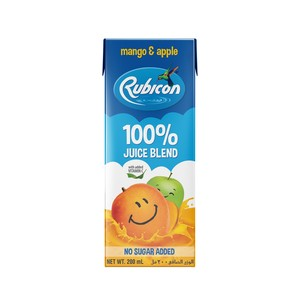 Rubicon Mango and Apple No Added Sugar  100% Juice Blend 200ml