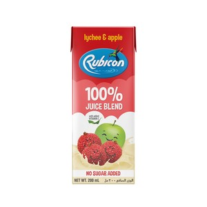 Rubicon Lychee and Apple  No Added Sugar  100% Juice Blend 200ml