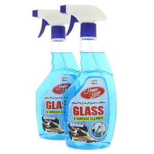 Home Mate Glass and Surface Cleaner Blue 2 x 650ml