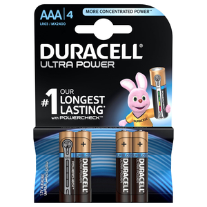 Duracell Ultra Power Type AAA Alkaline Batteries 4pcs