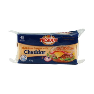 President Cheddar Slice Cheese 48pcs 800g