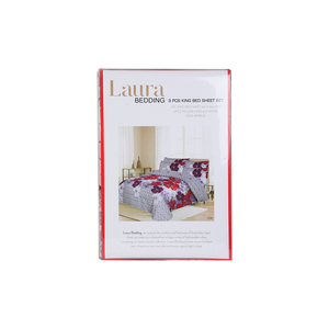 Laura Bed Sheet 3pcs Set 240x260cm Assorted Colors