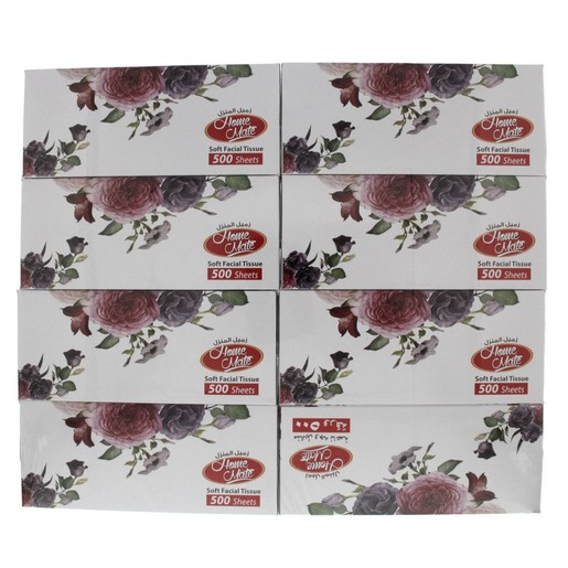 Home Mate Facial Tissue 500s x  8 Pieces