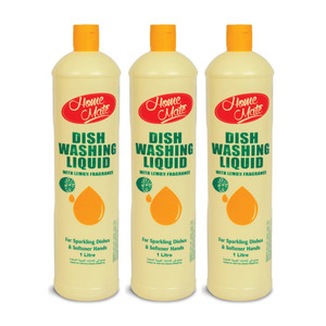 Home Mate Dishwashing Liquid Lemon 3 x 1000ml