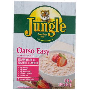 Jungle Oatso Easy Strawberry & Yoghurt Flavour 500g