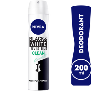 Nivea Invisible For Black And White Clean 200ml