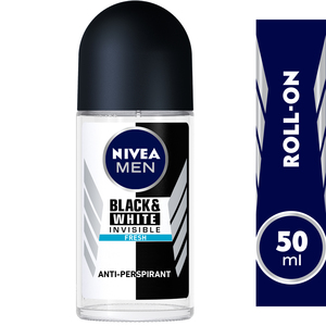 Nivea Men Deodorant Invisible Black & White Fresh Roll-On 50ml
