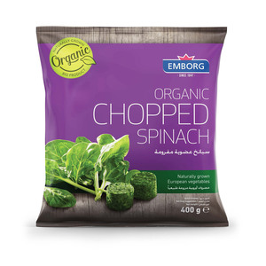 Emborg Organic Chopped Spinach 400g