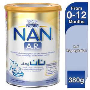 Nestle NAN A.R. From Birth to 12 Months Infant Formula to Reduce Regurgitation with Iron 380g