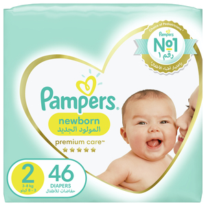 Pampers Premium Care Diapers Our Softest Diaper and The Best Skin Protection Size 2 3-8kg 46pcs