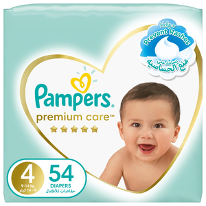 Pampers Premium Care Diapers Our Softest Diaper and The Best Skin Protection Size 4 9-14kg 54pcs