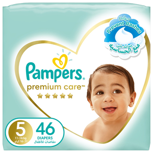 Pampers Premium Care Diapers Our Softest Diaper and The Best Skin Protection Size 5 11-16kg 46pcs