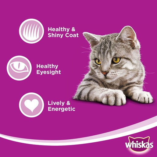Whiskas Tender Bites Favourite Selection in Gravy Pouch Multipack 85g x 10 +2free