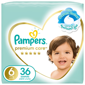 Pampers Premium Care Diapers Our Softest Diaper and The Best Skin Protection Size 6 13+kg 36pcs