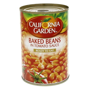California Garden Canned Baked Beans In Tomato Sauce 420g