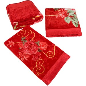 Sadaf Embossed Blanket 4pcs Set 200X240cm