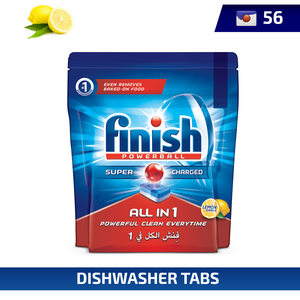 Finish Dishwasher Detergent All in One Tabs Lemon 56pcs