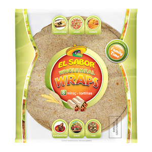 El Sabor Wholemeal Tortilla Wraps 8pcs
