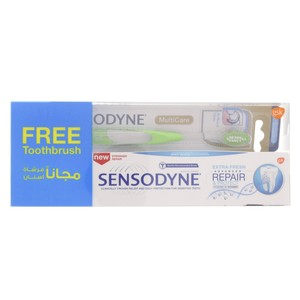 Sensodyne Toothpaste Extra Fresh Advanced Repair 75ml + Toothbrush Assorted Color