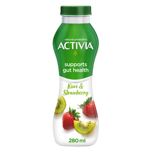 Activia Go Drinkable Yoghurt Kiwi & Strawberry 280ml