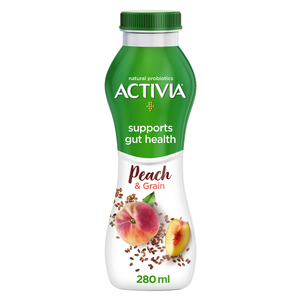 Activia Yoghurt Go Drinkable Peach & Grains 280ml