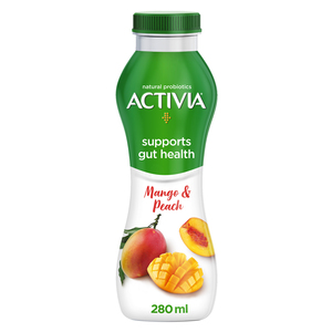 Activia Go Drinkable Yoghurt Peach & Mango 280ml