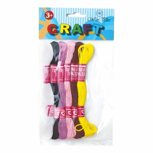 Win Plus Craft Thread 176 6's Assorted Colors
