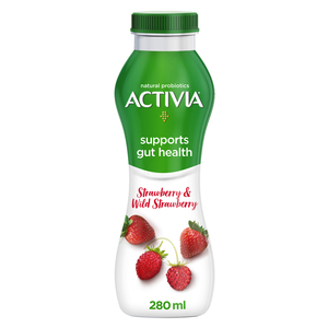 Activia Go Drinkable Yoghurt Strawberry & Wild Strawberry 280ml