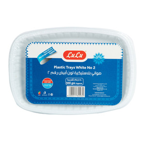 Lulu White Plastic Tray No.2 500g Approx. Weight