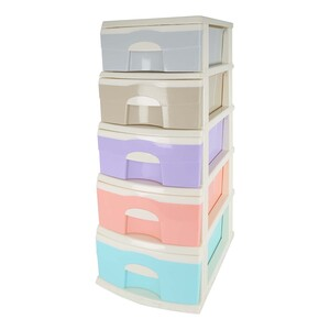 Home Plastic Drawer 5Layer 7715 Assorted Colors