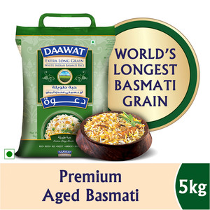Daawat Extra Long Grain White Indian Basmati Rice 5kg