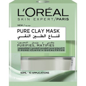 L'Oreal Paris Pure Clay Green Mask Purifies And Mattifies 50ml