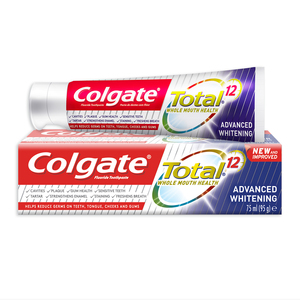 Colgate Fluoride Toothpaste Total Advanced Whitening 75ml