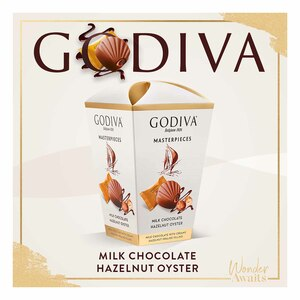 Godiva Master Pieces Milk Chocolate With Hazelnut Oyster 117g
