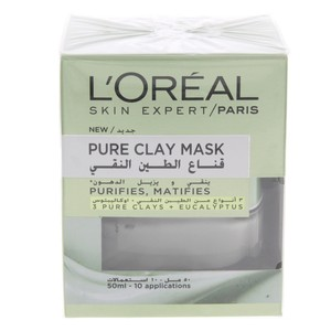 Loreal Skin Expert Pure Clay Mask with Eucalyptus 50ml