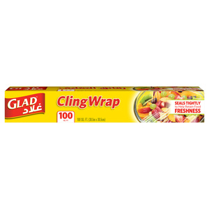 Glad Cling Wrap Clear Plastic Loop 100 sq. ft.