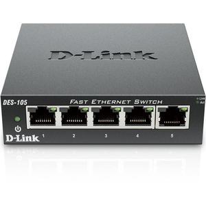 D-Link 5-Port 10/100 Mbps Unmanaged Switch DES105