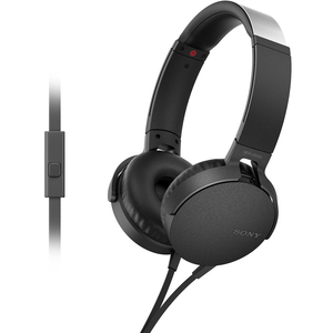 Sony Headphone With Mic MDR-XB550AP Black